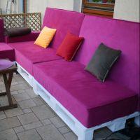 Стильный диван из поддонов ДВ98
