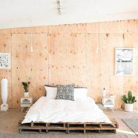 Кровать из поддонов КРО55