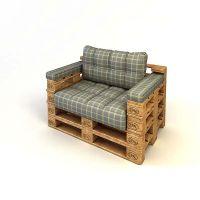 Кресло из поддонов КРС53
