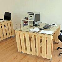 Стол из паллет для офиса МО19