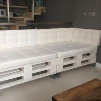 Кожаный диван из поддонов ДВ83