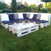 Мебель для сада из паллет МС58