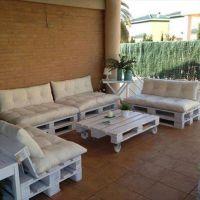 Мебель для сада из поддонов МС03