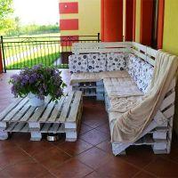 Мебель для дачи из поддонов МС82