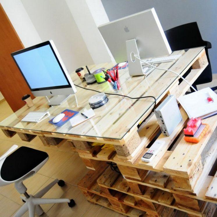 Сделать офисный стол своими руками 74