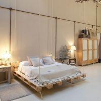 Кровать из паллет КРО70