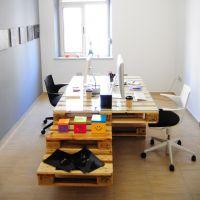 Стол для офиса из паллет МО15