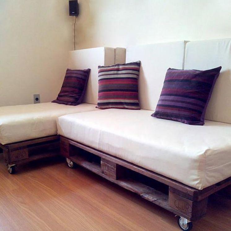 Раскладной диван из поддонов своими руками