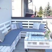 Мебель для дачи из поддонов МС67