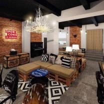 Мебель для кафе из паллет МК27