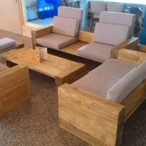 Мебель для кафе из поддонов МК128