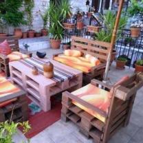 Мебель для кафе из поддонов МК118