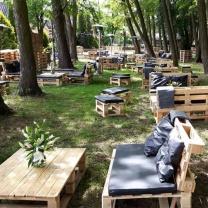 Мебель для кафе из поддонов МК132