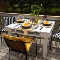 Стол из паллет для сада или кафе МК237