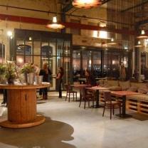 Мебель для кафе из поддонов МК74