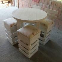 Стол со стульями для кафе МК239