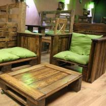 Мебель для кафе из поддонов МК76
