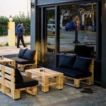 Мебель для кафе из поддонов МК48