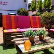 Мебель для кафе из паллет МК09