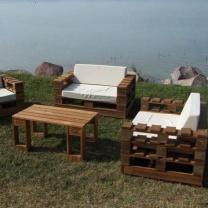 Мебель для кафе из поддонов МК24