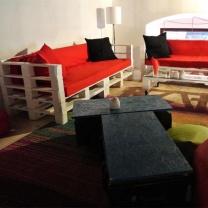 Мебель для кафе из поддонов МК110