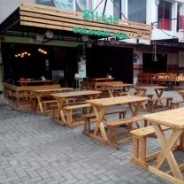 Мебель для кафе из поддонов МК94