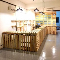 Мебель для кафе из поддонов МК30